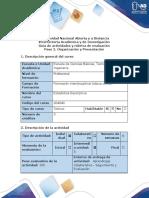 Guía de Actividades y Rúbrica de Evaluación - Paso 2- Organización y Presentación