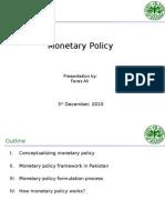 Monetary Policy by Faraz Ali