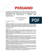 EL PERUANO APRUEBAN EL ESTATUTO DE LA CSJ EN DELITOS DE CRIMEN ORGANIZADO RADM. n° 318-2018-CE-PJ