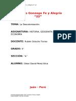 Trabajo De La Descolonización - HGE