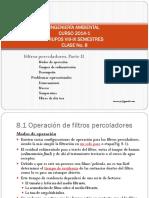 Tratamiento de aguas residuales - Clase No. 8 - Filtros percoladores. Parte II.pdf