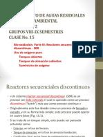 15 - Bio-oxidación. Parte III. Reactores secuenciales discontinuos