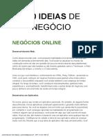 100 IDEIAS DE NEGÓCIOS