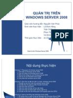 QUẢN TRỊ TRÊN WINDOWS SERVER 2008