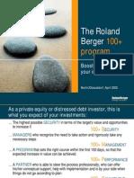 RB the Roland Berger 100 Program 20050401