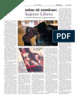 Mujeres Libres. Los Liberatorios de Prostitución, asignatura pendiente