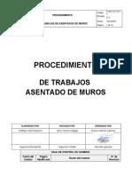 P.SG.S.A.17.P.13 Procedimiento ASENTADO DE MUROS