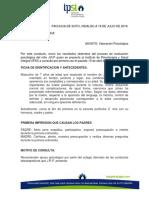Caso clínico JRP evaluación