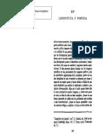 JAKOBSON, R. - Lingüística y poética. En Ensayo de lingüística general.