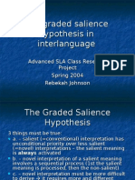 The Graded Salience Hypothesis in Inter Language