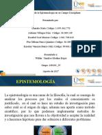 Importancia de la Epistemología en su Campo Disciplinar