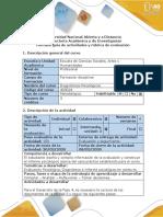 Guia de actividades y rubrica de evaluacion - Fase 4 - Diagnostico participativo contextualizado e Informe Psicologico (1)