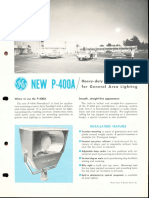 GE Lighting Systems Powerflood P-400A Spec Sheet 1963
