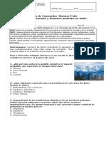6° año  -  Historia  -  Prueba   -  Ambientes Naturales y desastres naturales de chile.docx
