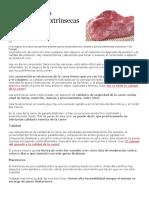 Características Intrínsecas y Extrínsecas de La Carne - 2020 Actividad 1