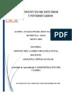 ADNINISTRACION DEL CAMBIO