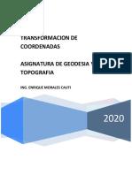 INSTRUCTIVO para transformacion de Coordenadas