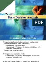 Basic decision analysis