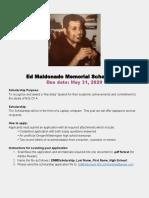 2020 ed maldonado memorial scholarship