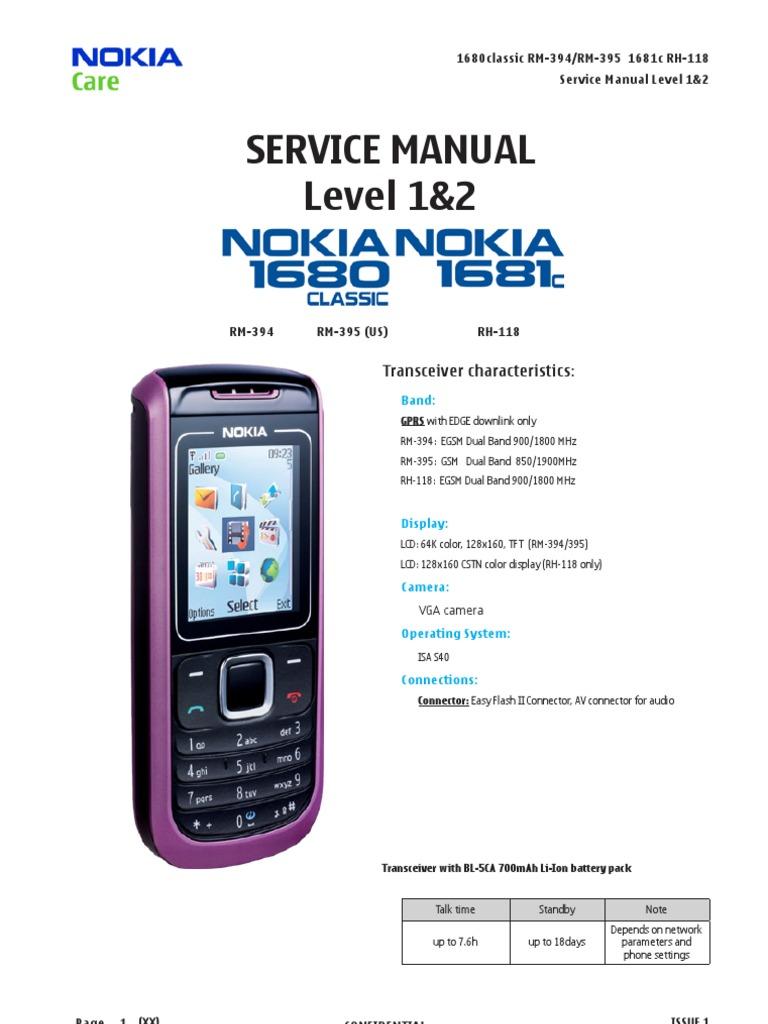 nokia 1680 service manual level 1 2 electrostatic discharge rh es scribd com Safaricom Nokia Phones Nokia Classic