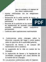 Asuntos conciliables y casuistica (2)