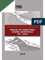 Manual de Carreteras. Diseño Geométrico DG 2018