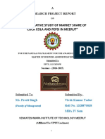 A COMPARATIVE STUDY OF MARKET SHARE OF COCA COLA AND PEPSI IN MEERUT - Copy (1)