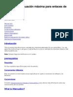 Cálculo Atenuación Enlaces Fibra Óptica