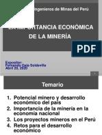 Importancia económica de la minería -Ing. Gala - 20ABR2020