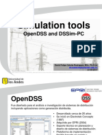 Simulation tools OpenDSS and DSSimPC