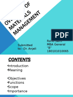 OVERVIEW OF MATERIALS MANAGEMENT