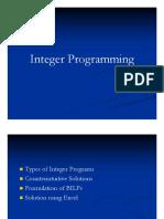 9 Integer Programming