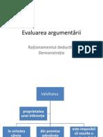 Evaluarea argumentării