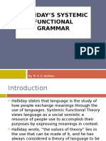 HALLIDAY'S Systemic Functional Grammar