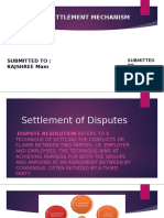 DISPUTE SETTLEMENT MECHANISM