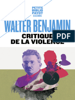 Critique de la violence by Walter Benjamin