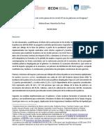 Covid 19 y Pobreza en Uruguay