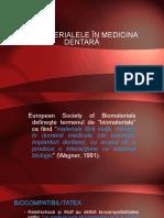 2 . Biomaterialele in medicina dentară