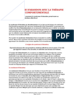 LE SYNDROME D ABANDON AVEC LA THERAPIE COMPORTEMENTALE (11 pages - 184 ko)