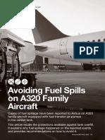 Avoid Fuel Spills on A320 aircraft