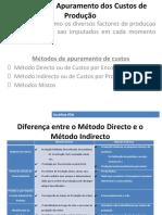 Métodos de Apuramento Dos Custos de Produção PDF