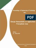 Energie Renouvelable Et Applications Francophone Issue