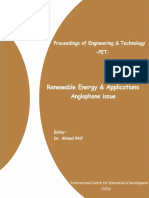 Renewable Energy & Applications Anglophone Issue