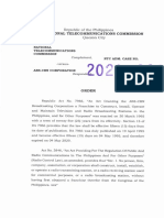 NTC Cease and Desist Order vs ABS-CBN