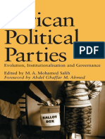 M.A. Mohamed Salih - African Political Parties_ Evolution, Institutionalisation  and Governance (OSSREA) (2003).pdf