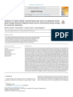 Analysis of a Phase Change Material Based Unit and of an Aluminum 2019 Appli