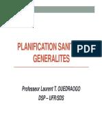 1-PLANIFICATION SANITAIRE-GENERALITES
