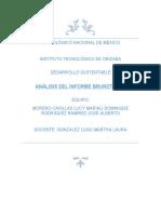 Análisis del informe Brundtland