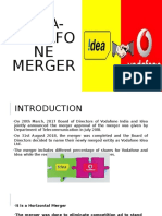 Idea Vodafone Merger BY Manju B BBA GEN SEM 6
