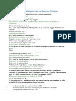 QCM de comptabilité générale en Bases de Gestion